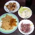 主人の夕食(夜食かな)1